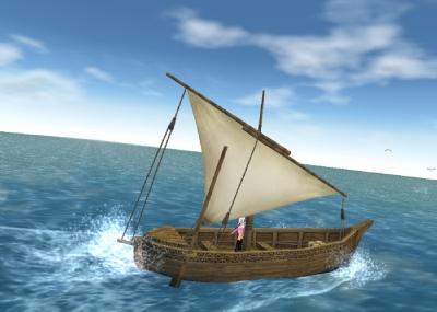 いざ漁船へ
