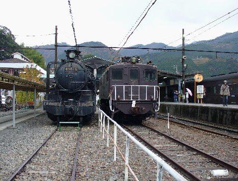 静態保存されている機関車