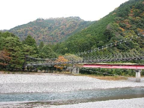 井川線から見える吊橋