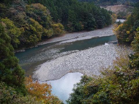 井川線から見える大井川