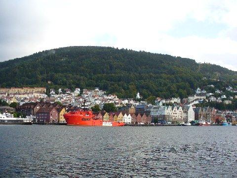 フロイエン山とベルゲン港