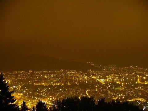 フロイエン山から見た夜景