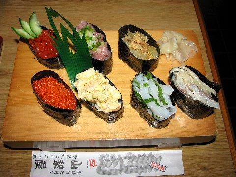 軍艦寿司のセット