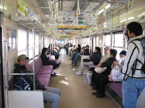 遠州鉄道の車内