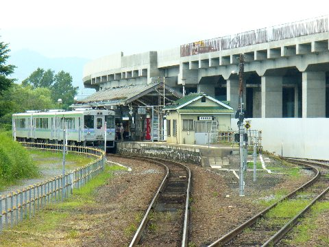 富良野線の旭川駅のホーム
