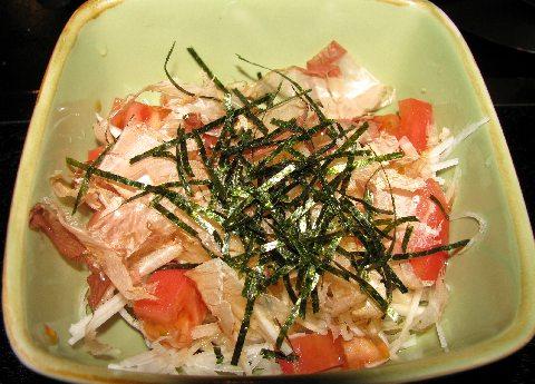 鉄板焼ちゃんの大根サラダ