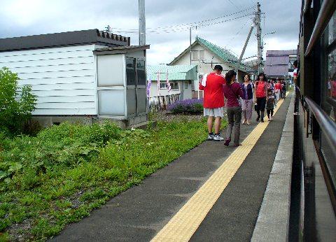 上富良野駅のホーム