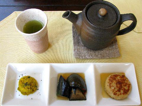 雅正庵のランチセットの前菜