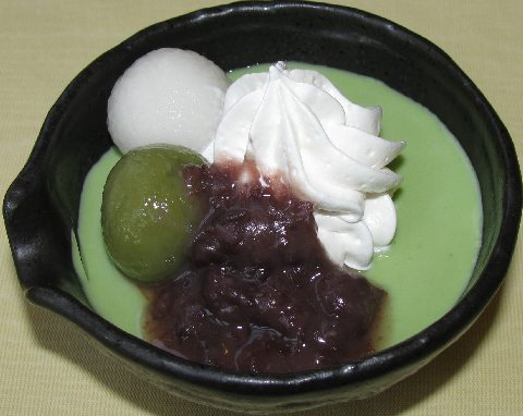 雅正庵のランチセットの抹茶プリン