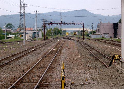 富良野駅の線路