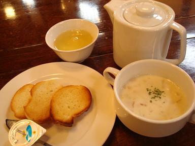 スープ、パン
