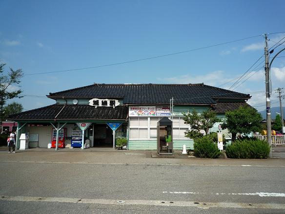 城端駅です。。。