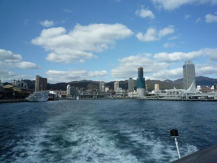 船から見た神戸港