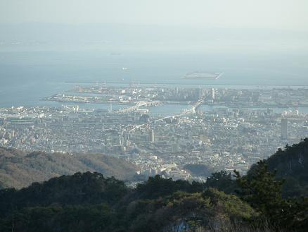 六甲山からの神戸