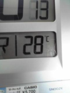 事務所の気温。