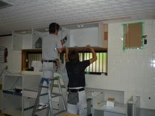 台所邸 キッチン組み立て2