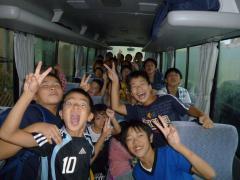 合宿2010バスの中で