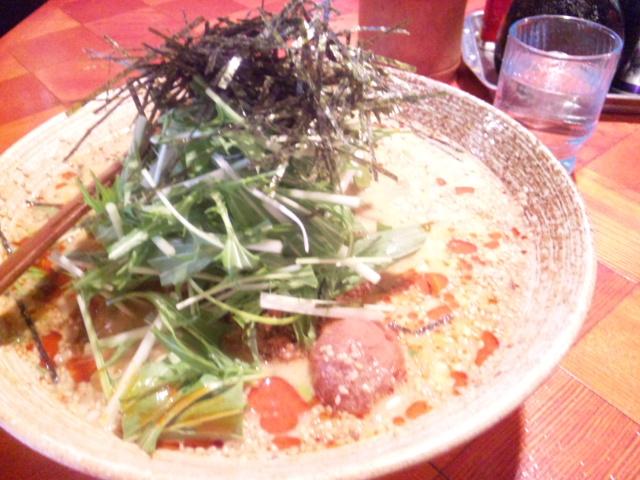 白ゴマ胆々麺
