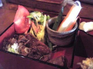 有機野菜ピクルスと焼き肉