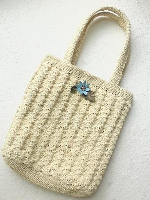 松編みバッグ1