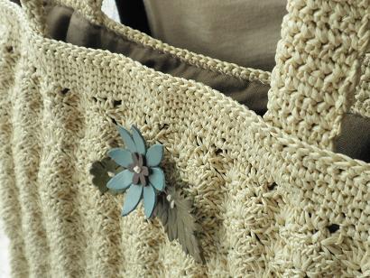 松編みバッグ2