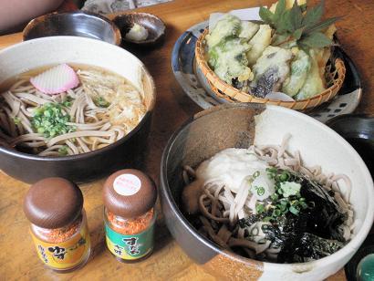 祖谷そばと地元野菜てんぷら