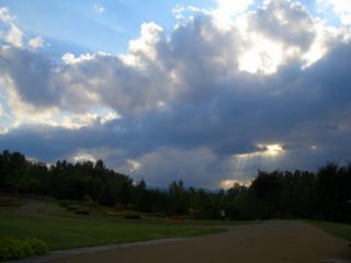 すずらん公園 夕陽