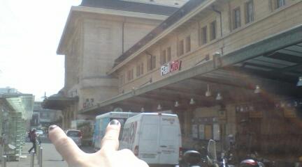 Lausanneの駅。