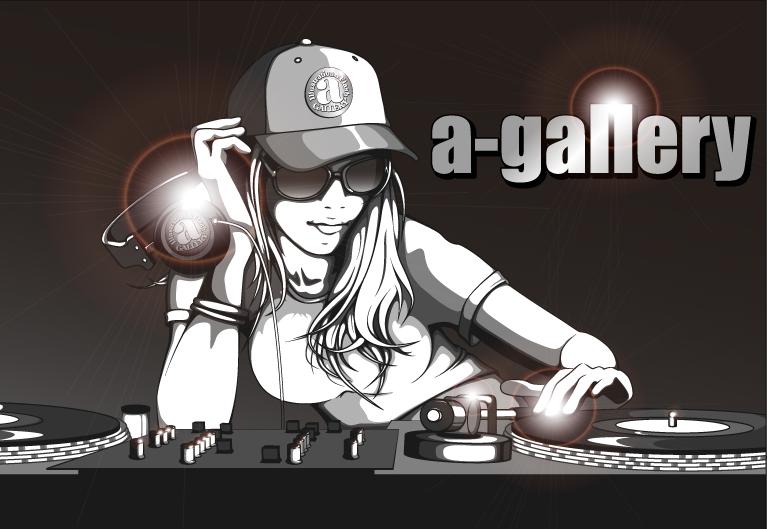 a-galleryイラスト『DJ Girl 02』