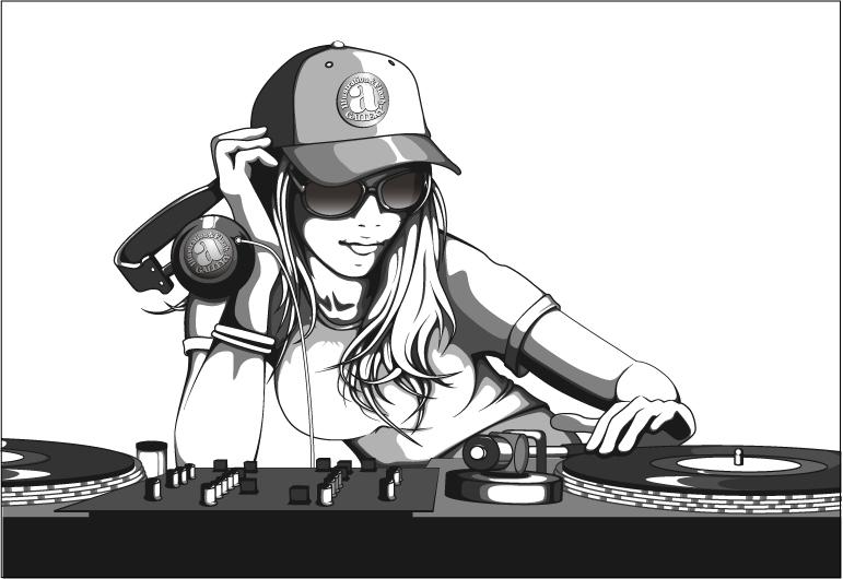a-galleryイラスト『DJ Girl』