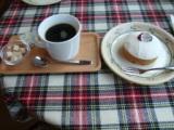 レアチーズケーキ&ボルボンコーヒー