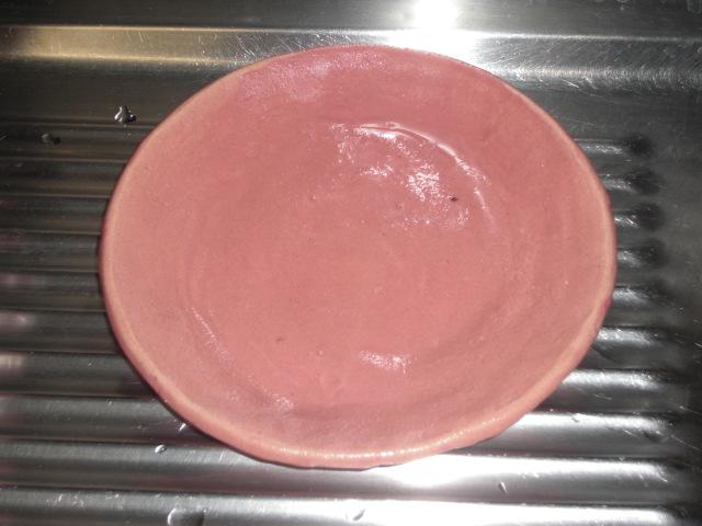 陶芸出来上がり2皿赤