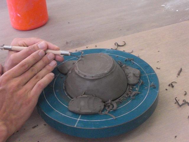 2009.9.6陶芸削り2