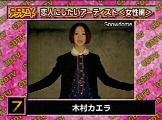 CDTV 恋人にしたいアーティスト〈女性編〉7位