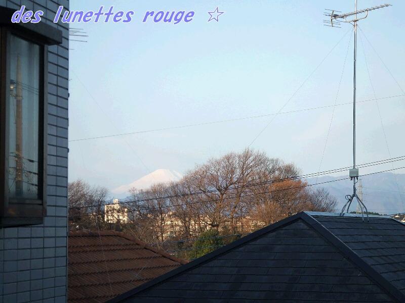 富士山:自宅マンションから