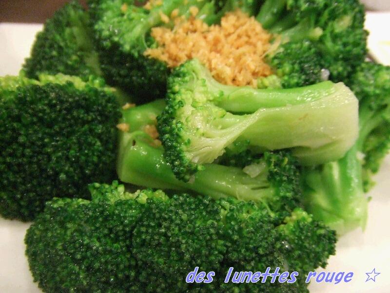 ブロッコリーのニンニク炒め:住家菜