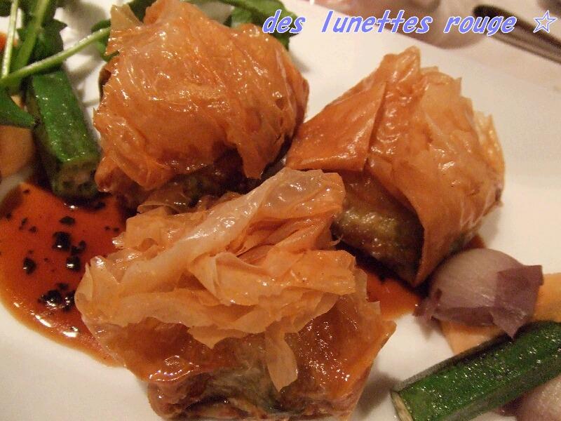 鹿児島産黒豚と季節野菜の変わり揚げ