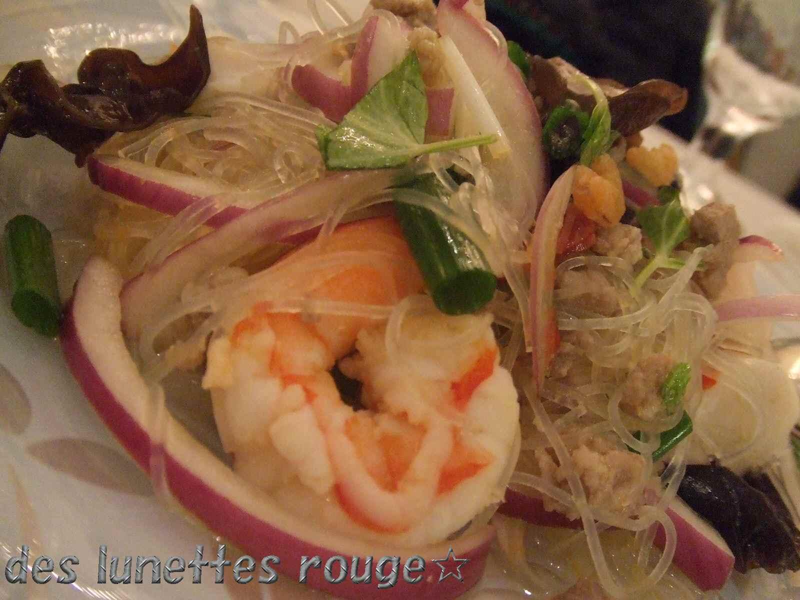 シーフードの春雨サラダ:マンゴツリーカフェ