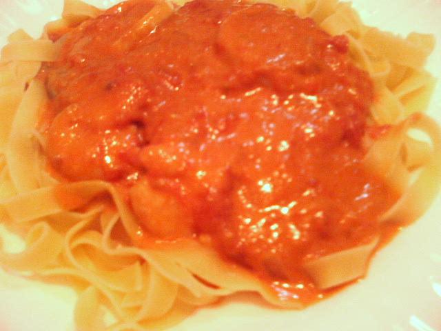 海老とイカのトマトソース:Jパスタ