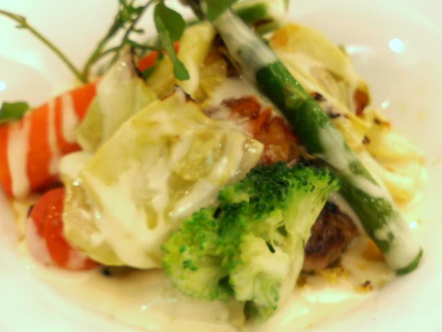 チーズハンバーグ&季節の野菜:デニ