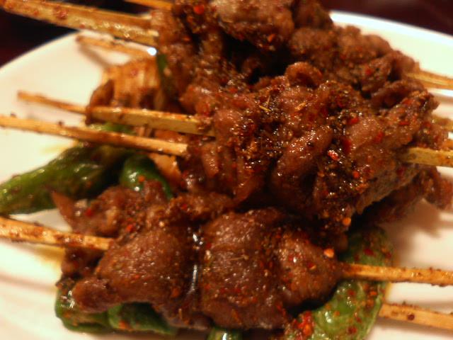 羊肉の串焼き ズーラン風味