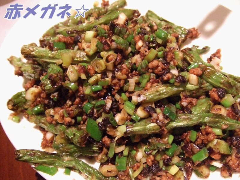 四季豆の煮物:翡翠拉麺小籠