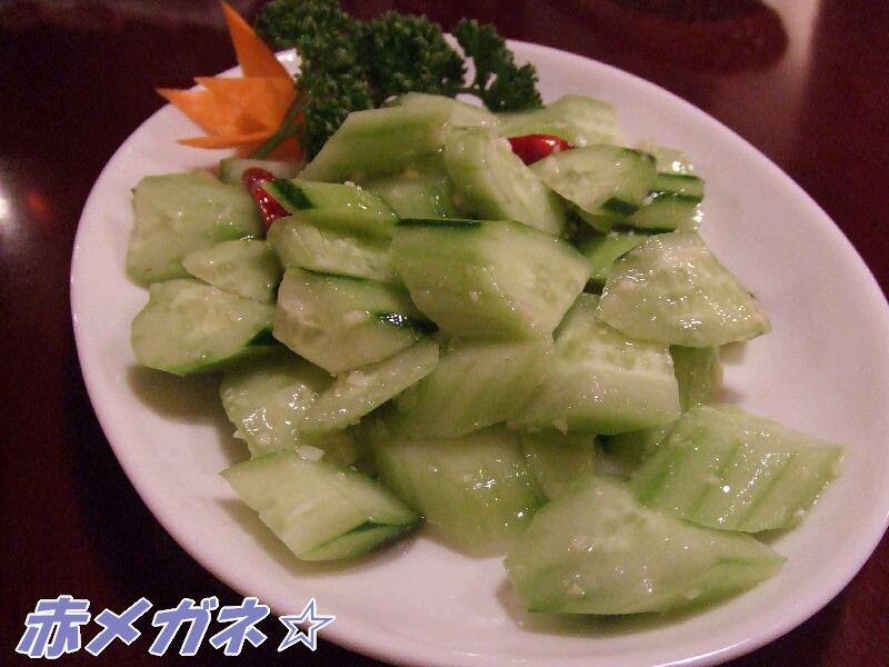 キュウリの冷菜ニンニクソース