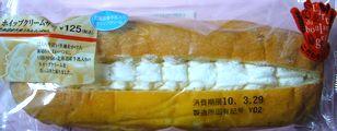 こだわりパン工房 ホイップクリームサンド(北海道産牛乳入りホイップクリーム) 125円