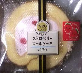 PREMIUM SWEETS 7iRO CAFE ストロベリー ロールケーキ  170円