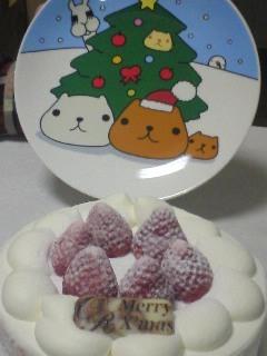 クリスマスケーキ2008&かぴさん皿!(゚Д゚)クワッ