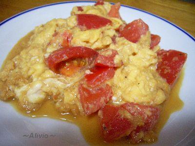080728トマトと玉子の炒め物