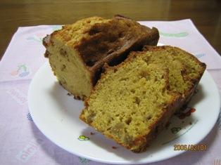 梅の実入りパウンドケーキ