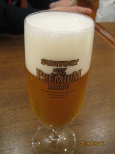 クリーミーな泡のビール