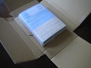 ネット注文の本の梱包を解く